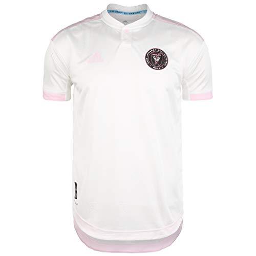 adidas Inter Miami CF Authentic Camiseta, Hombre, Blanco/Rosa Claro, Extra-Small
