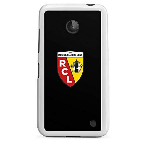 DeinDesign Silikon Hülle kompatibel mit Nokia Lumia 630 Dual SIM Hülle weiß Handyhülle RCL Racing Club de Lens Offizielles Lizenzprodukt