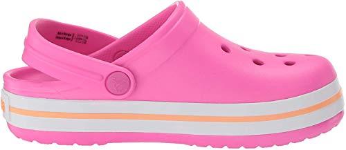crocs Unisex-Kinder Crocband Clog Kids Holzschuh, Elektrisches Pink/Cantaloupe, 37 EU-38