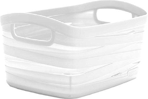 CURVER Cesta Decorativa de almacenaje para hogar Ribbon Color Blanco dimención XS