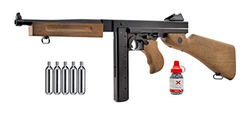 Legends M1A1 BBS Air Rifle Air Gun with 5x12 CO2 Tanks and Pack of 1500ct Steel BBS Bundle