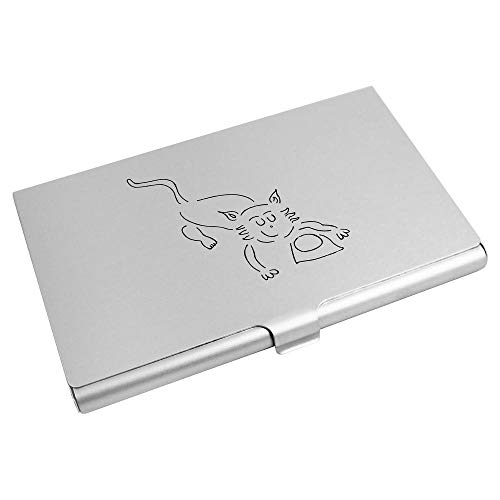 Azeeda 'Cat With Milk' Business Card Holder / Credit Card Wallet (CH00023581)