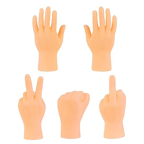 Paquete de 5 mini manos de dedo divertidas marionetas de dedo manos pequeñas novedad diversión pequeñas bolas de gato juguetes blandos para gatos de interior