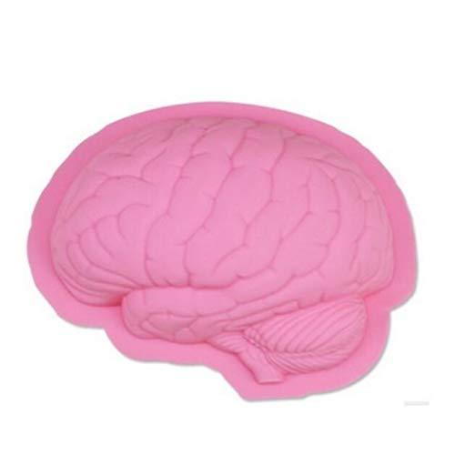 Gehirnform DIY Pizza Fondant Kuchen Silikon Backform Handgemachte Waffelplätzchen...