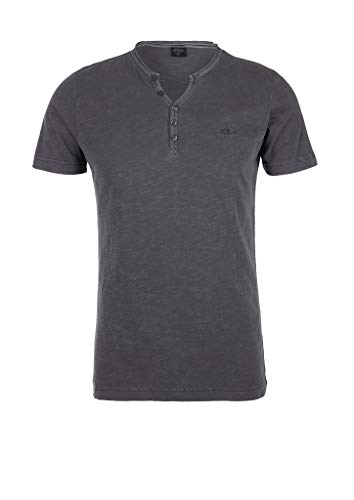 s.Oliver RED Label Herren Slim Fit: Henley-Shirt Dark Grey L