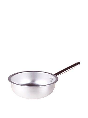 Pentole Agnelli ALMA111BM20 Alluminio Professionale 3 mm, Padella a Mantecare Salta Pasta e Riso con Manico Tubolare, 20 cm