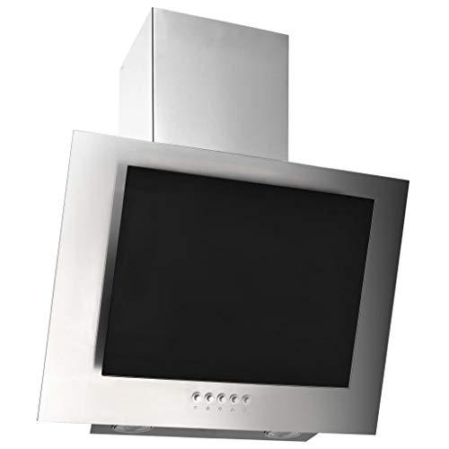 vidaXL Campana Extractora RGB de LED Accesorios Cocina Extraer Escape Humos Grasa Calor Humedad Luces Lavable Acero INOX Vidrio Templado