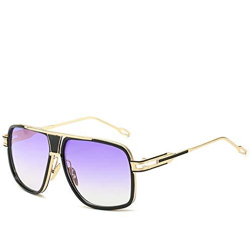 Único Gafas de Sol Sunglasses Gafas De Sol Clásicas De Gran Tamaño para Hombre, Gafas De Sol Cuadradas Retro Vintage De