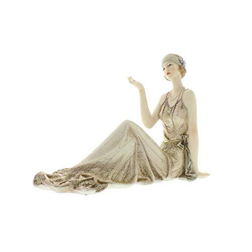"Broadway Belle Atemberaubende Art Deco Figur "" Lady Justina"