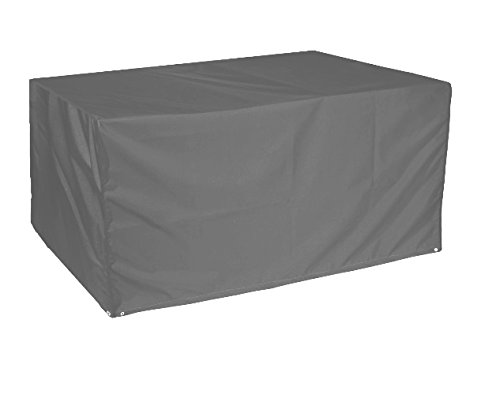 Bosmere C555TG Weatherproof Rectangular Outdoor Patio Table Cover, 67' L x 37' W x 28' H, Gray