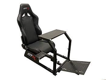 GTR Simulators GTA Model Simulator Frame & Adjustable Racing Seat Majestic Black Frame Majestic Black Seat