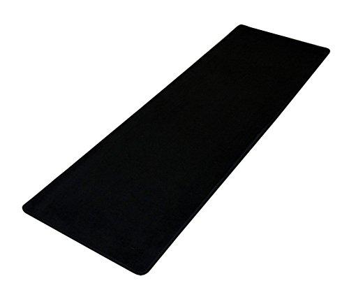 Tapis de sol confort de cuisine, antidérapant, étanche, anti bactérien, multi-usages, Polyester, Black 16'×48', 16'×48'