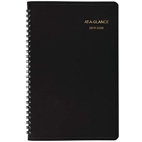 AT-A-GLANCE Weekly Appointment Book, 2019-2020 Academic Planner, 5u0022 x 8u0022, Small, Black (7010105)