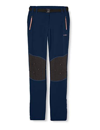 CMP – F.LLI Campagnolo Mädchen Lange Outdoor-Hose mit Verstärkung an den Knien, Blue, 140