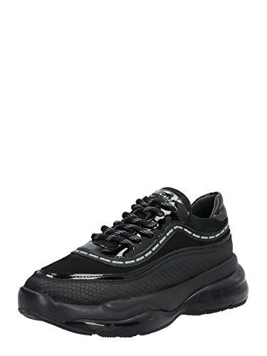 Bronx Zapatillas Bajas Bubbly Para Mujer, Color Negro, Talla 36 Eu