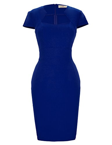 GRACE KARIN Business Kleid Vintage hoch Taille Kleid Retro bleistiftkleid Sommer Etuikleider 1950 Kleid CL8947-3 S