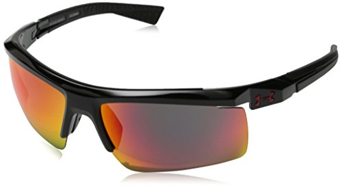 Under Armour Men's Core 2.0 Sunglasses Shiny Black / Gray Infrared Multiflection Lens 69 mm