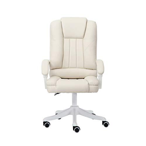 GFDFD Bürostuhl Ergonomischer Spielstuhl Bürostuhl PU-Stuhl mit hoher Rückenlehne Liegender Computerstuhl Bequemer Schlafstuhl (Color : A)