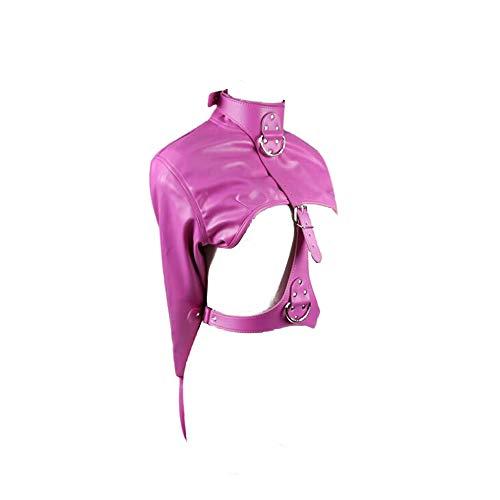 Ropa de cuero de las mujeres Traje de juguete Anti-Back Strap Lock Rose Red...
