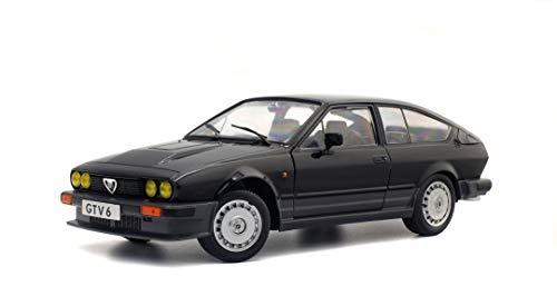 Solido Alfa Romeo GTV6-BLACK METALLIC-1/18-S1802302 Coche Miniatura de Colección, 1802302, Negro