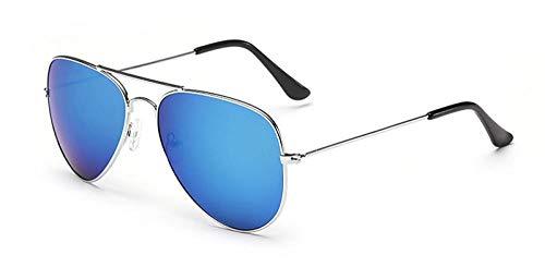 FJCY Diseñador de Gafas de Sol de Aviador para Hombre Gafas de Sol de Aviador Aviador para Mujer Gafas de Sol Retro con Espejo Negro para hombres-Cj330255-C9