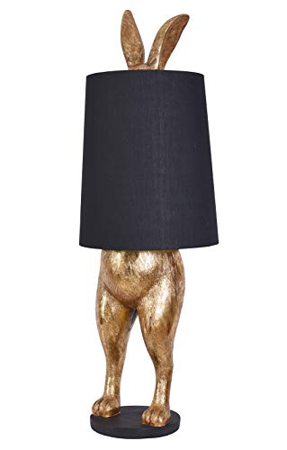 Hasenleuchte Alice im Wunderland Stehlampe hiding Rabbit Hase gold schwarz Lampe cw224 Palazzo Exklusiv
