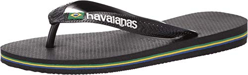 Havaianas Damen Brazil Logo Flipflop, schwarz, 39/40 EU