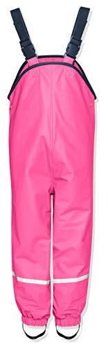 Playshoes Kinder Regen-Latzhose, Rosa (Pink 18), 128