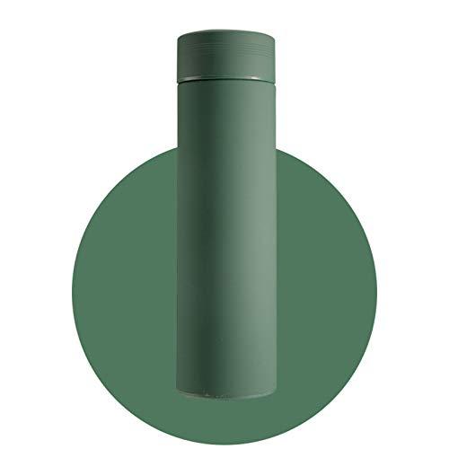 ZGZFEIYU Frasco de vacío con Filtro Termo Botella Acero Inoxidable 304 Taza térmica Taza de café Botella de Agua Oficina Negocio Hogar Termo, Frasco de vacío a Prueba de Fugas- Green