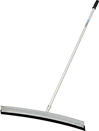 "Unger Professional AquaDozer MAX Kit with 36"" Smooth Surface Curved Floor Squeegee and 48"" Dual End Pole"