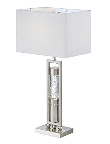 Homelegance Satin Nickel Metal Finish Table lamp with Sparkling Decorative Drop Dancing Water Mood, Night Light, top