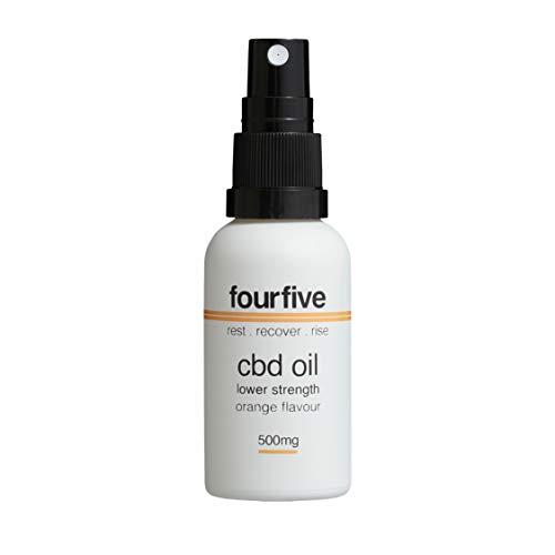 fourfive CBD Oil Spray, 500mg Cannabidiol, Orange Flavour, 30ml