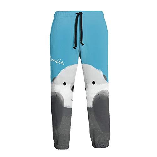 Inaayayi Lindo Otter Poke Cara Unisex Joggers Casual Pantalones de Impresión 3D Deportes Pantalones de los...