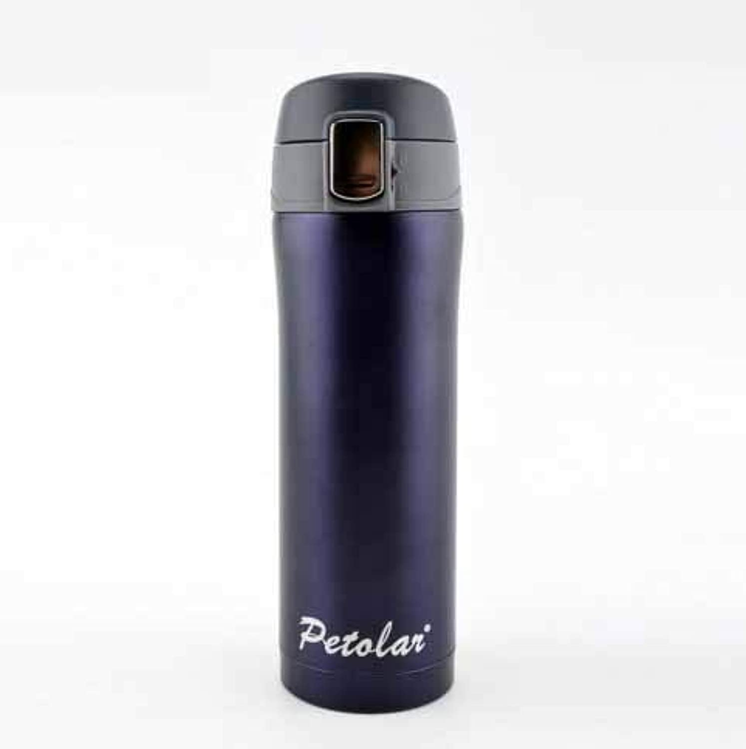 GaoMiTA Fashion Simple Straight Cup 304 Stainless Steel Vacuum Flask Portable Business car Cup with Filter Gift Cup