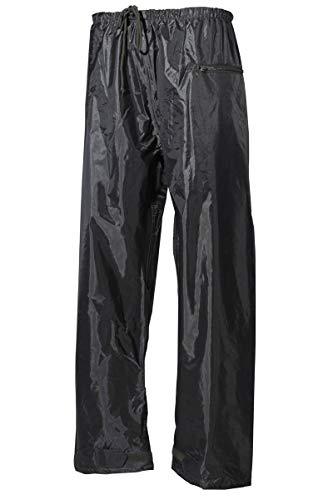 MFH Regenhose Polyester Schwarz Regenkleidung Regen Hose Outdoorhose Camping S-XXL (S)