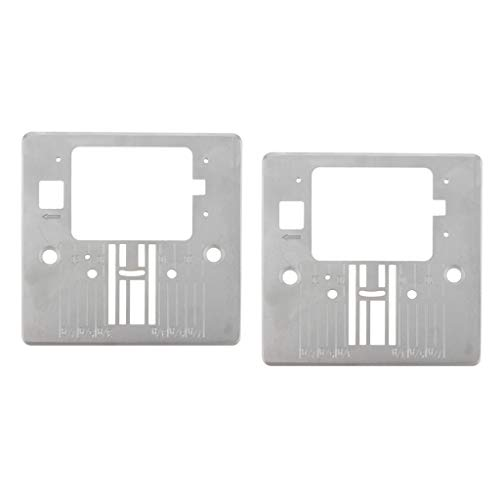 freneci 2Pcs Heavy-duty Singer Sewing Replacement Needle Plate #416472401 for Domestic Sewing Machine