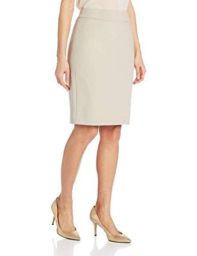 Calvin Klein Women's Straight Fit Suit Skirt (Regular Sizes), Khaki, 18 Plus