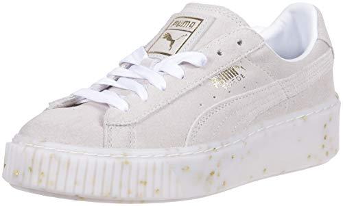PUMA - Zapatilla de deporte para mujer, Blanco (Blanco dorado (Puma White-puma Team Gold)), 38.5 EU