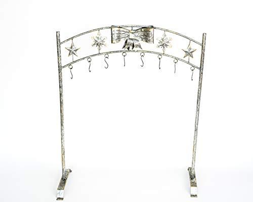 TisYourSeason Silver Snowflake Christmas Stocking Holder Stand