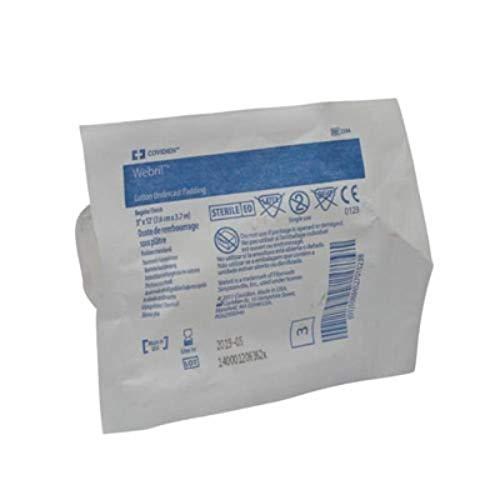 "Covidien 2394 Webril Cotton Undercast Padding, Regular Finish, 3"" x 12' Size (Pack of 50)"