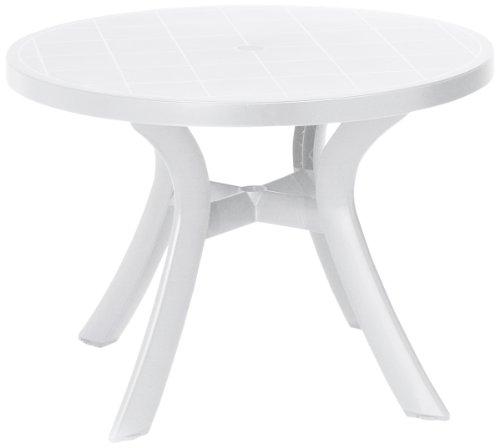 BEST 18511000 Tisch Kansas rund, Durchmesser 100 cm, weiß
