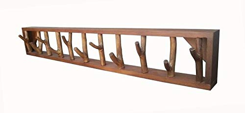 Faunos XXL Treibholz Garderobe Wand 100cm Unikat Handarbeit Wandgarderobe Holz Recyclingholz Shabby Chic | Kleiderhaken aus Ästen | Garderobenhaken Vintage