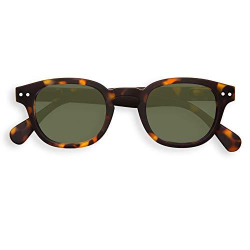 IZIPIZI #C Tortoise With Green Lenses Sunglasses +0 Tortoise