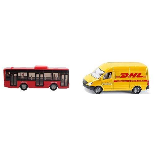 Siku 1021 - Linienbus, farblich sortiert, Farbe nicht wählbar & 1085 - Postwagen