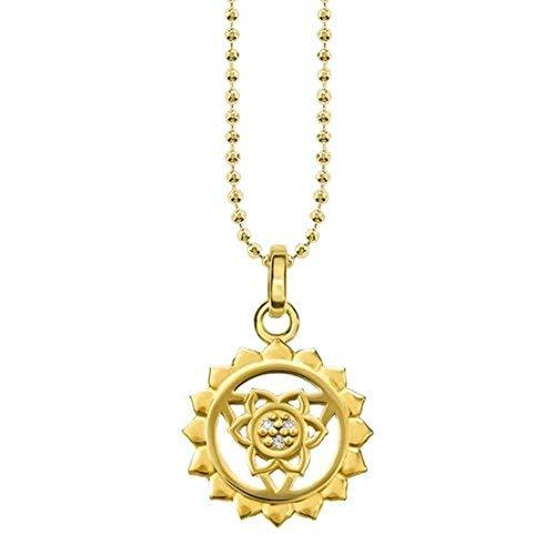 Thomas Sabo Damen-Kette Halschakra 925 Sterling Silber 750 Gelbgold weiß KE1687-414-39-L45v