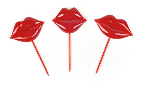 Fred und Freunde Boogie Party Bites Picks Lip Service Küsse Set of 18 rot
