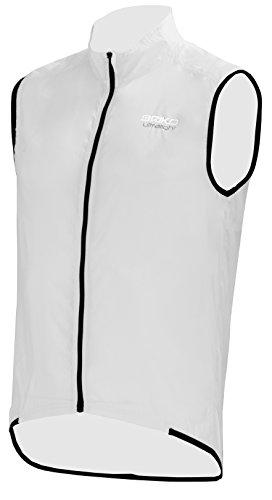 Briko Piuma Vest Gilet Impacchettabile Bici, Bianco, S
