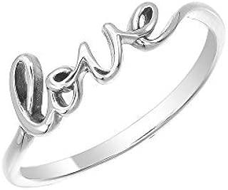 Jewelry Sterling Silver Love Script Ring