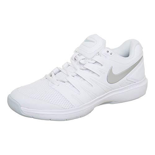 Nike W Air Zoom Prestige Cpt, Zapatillas de Tenis Mujer, Multicolor (White/Metallic Silver/Pure Platinum 100), 38.5 EU