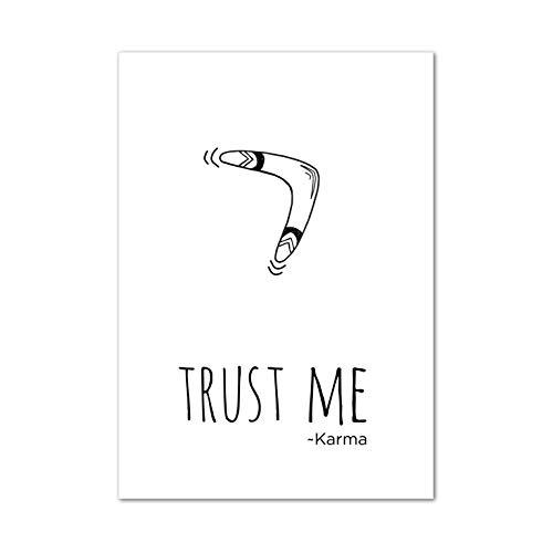Poster, Wanddeko, Bild, Kunstdruck, Boomerang, Sprüche, Karma